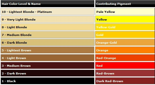 Natural Hair Colour And The Hair Colour Wheel Hair Color