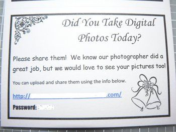 Photoshare Cards ~ I absolutely <3 this idea! You can get more personal & candid photos this way!  :)