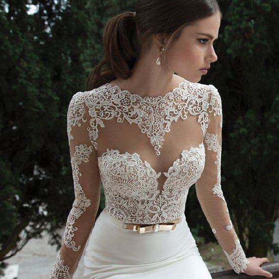 Berta Bridal Winter 2014 Long Sleeve Wedding Dresses Part 2