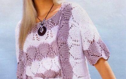 Crea una leggerissima giacca a strisce bianche e lilla con i lavori a maglia - Una giacchetta soffice e facile da indossare: senza bottoni è adatta sia nelle giornate primaverili che nelle serate estive. Un lavoro a maglia divertente da realizzare e che vi darà soddisfazione indossarlo.