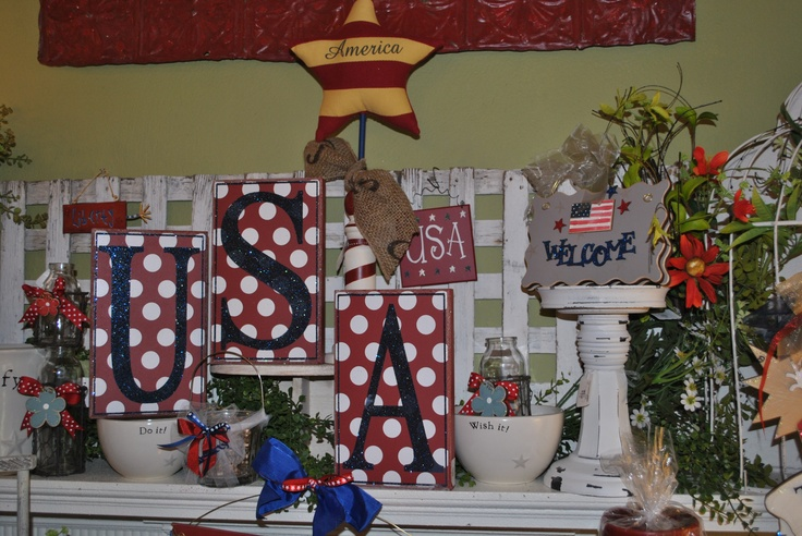Tons of Americana to dress your home and celebrate the 4th of July!