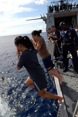 U.S. Navy women sailors.