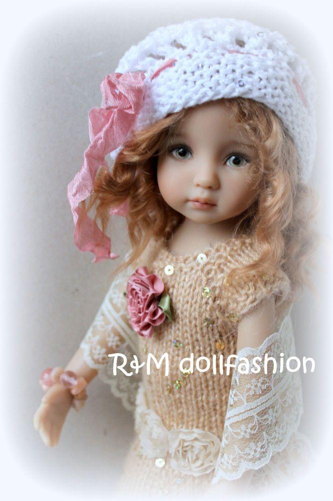 "R&M DOLLFASHION OOAK handknit outfit for Effner Little Darling 13"" Kish 14"" doll"