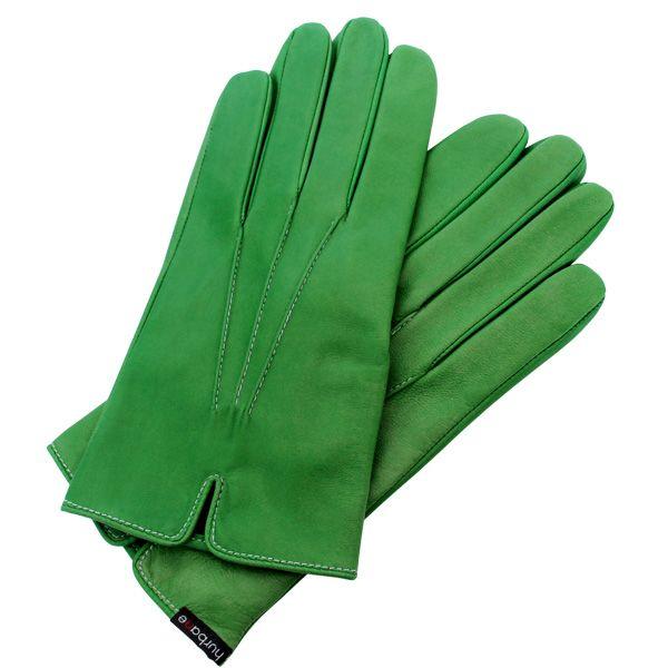 Gants cintrés Hurbane - cuir vert