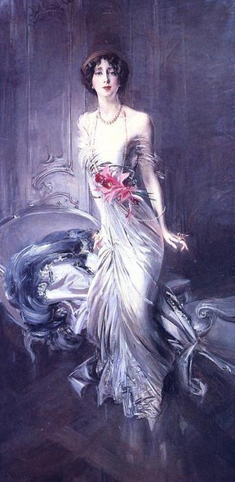 Madame E. L. Doyen, 1910 by Giovanni Boldini...Magnifico Effetto Luce tipico di Boldini