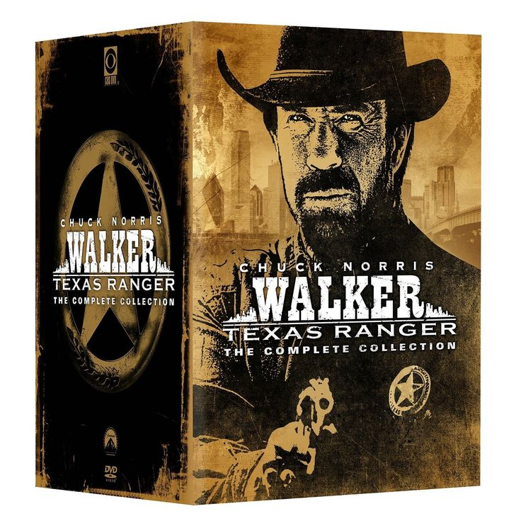 """Watch Chuck Norris star as Ranger Cordell Walker in """"Walker, Texas Ranger: The Complete Collection"""" on DVD. This set features eight seasons of action-packed Wild West adventures as the title character"""