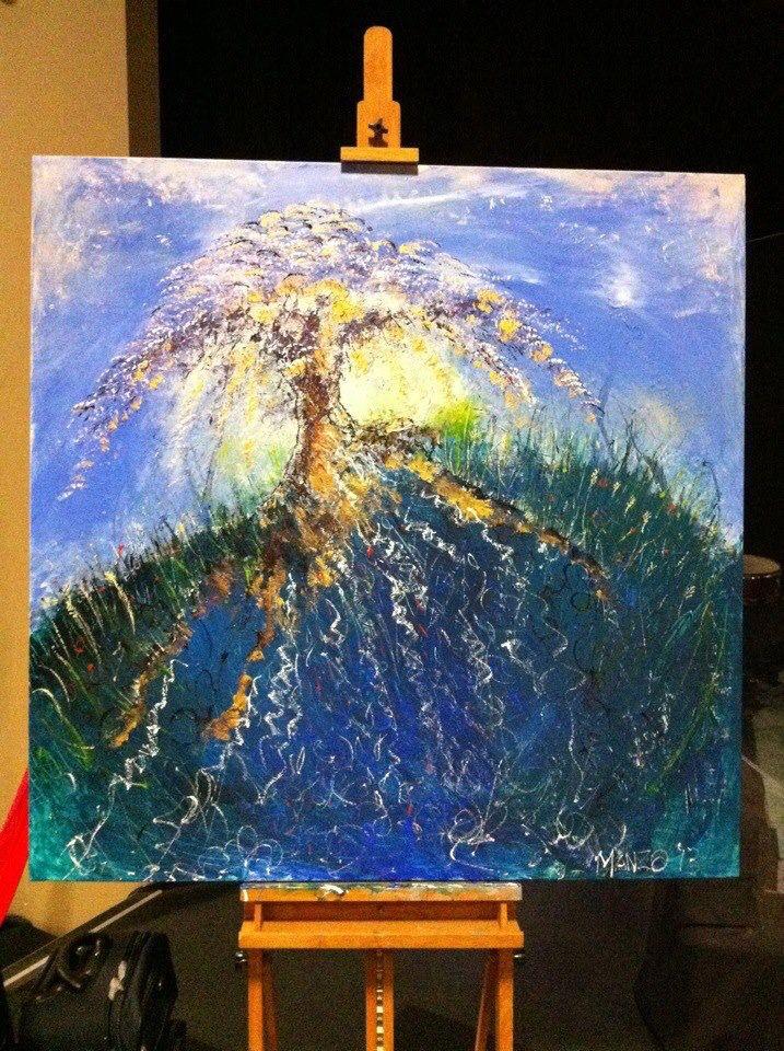 """Everlasting Fruit Jeremiah 17:8"" Painted live in 30 mins worship at DaySpring Church, Sydney, Bill Johnson Conference 2013. #wendymanzo #propheticart #worshipart #liveart #speedpainting #billjohnson"