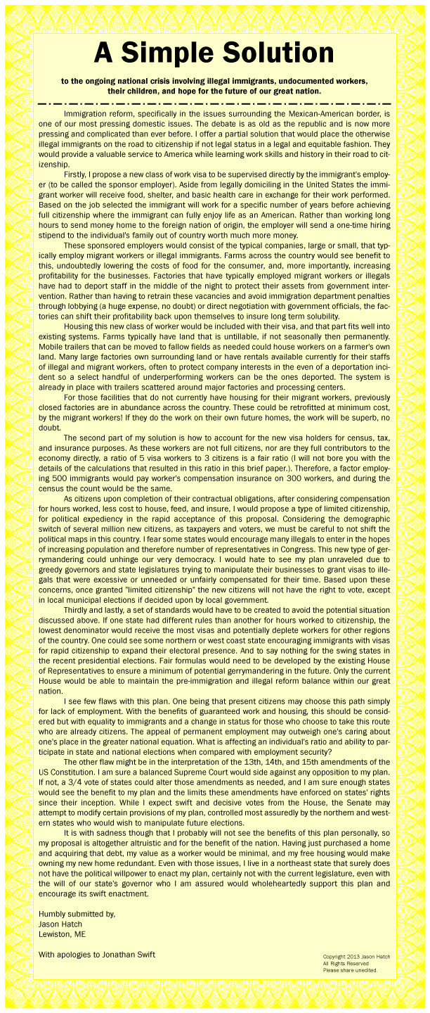 essay on immigration control In this essay we provide an overview of immigration from latin  a third major  amendment to the ina, the 1986 immigration control and reform.