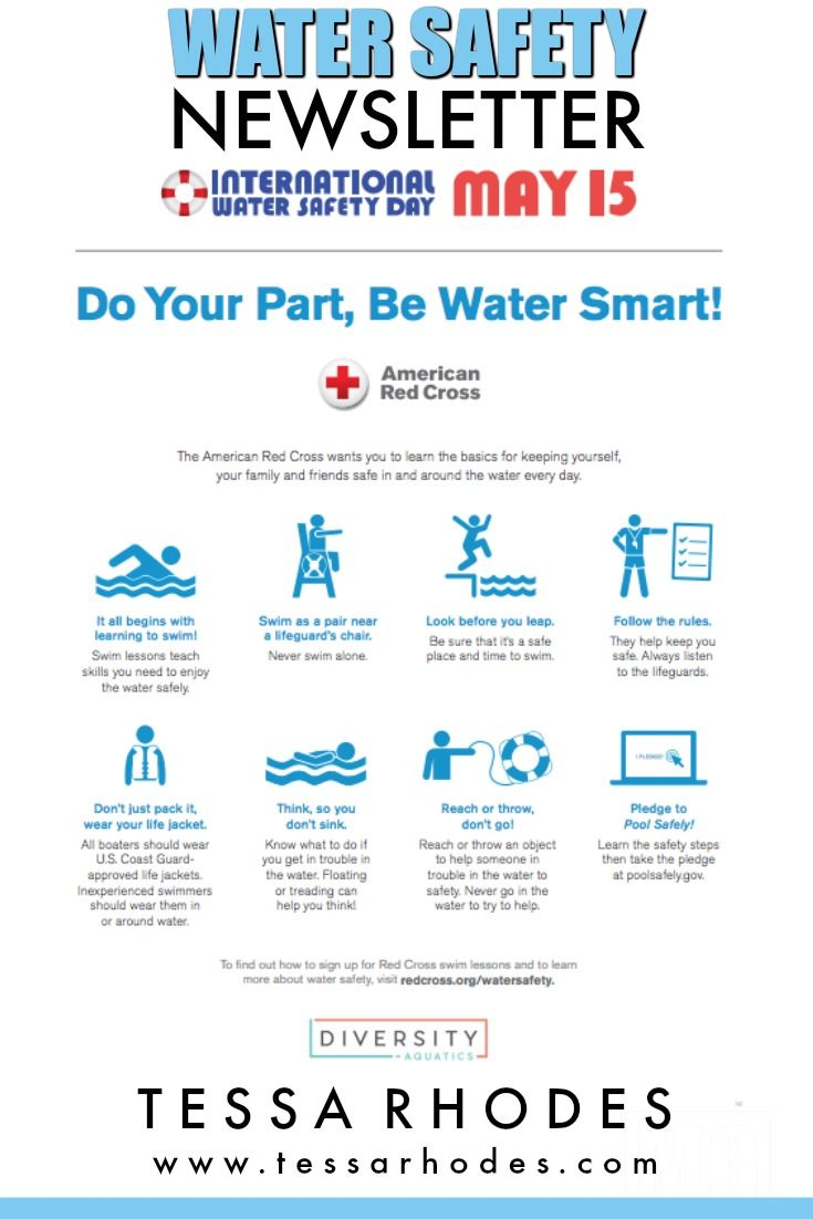 International Water Safety Day May 15 2018 Striving To Make A Planet Water Safety Swimming Safety Water Safety Activities
