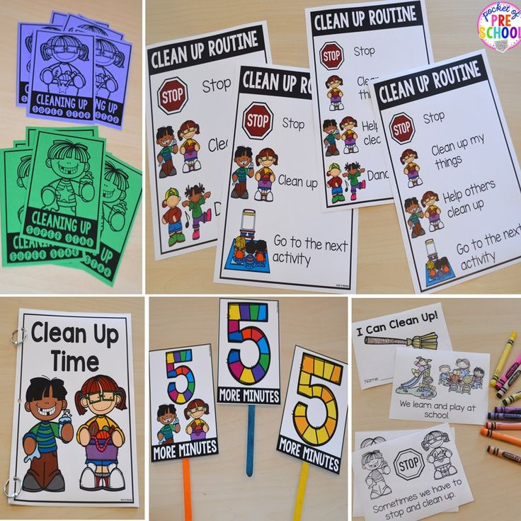 Make clean up time a breeze in your preschool, pre-k, tk, and kindergarten classrooms. Included: Clean Up Teacher Helpful Tips, Clean Up Routine Posters (4 to choose from), Student Coloring Book/Emergent Reader, Read Aloud Book, 5 Minute Warning Signs (3 options in two sizes), &Clean Up Awards