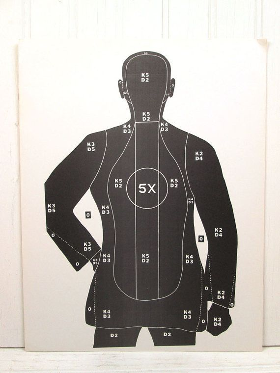 Vintage Paper Shooting Target Human Man by vintagegoodness on Etsy, $9.95