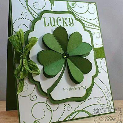 #SU Punch Art Shamrock /  Four Leaf Clover