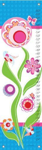 Oopsy daisy Sparrow Growth Chart by Jen Christopher, 12 by 42 Inches by Oopsy daisy, Fine Art for Kids. $40.73. Measures 12-inch by 42-inch. Art by Jen Christopher. Wipes clean with a damp cloth. Track the height of children up to five feet. Giclee printed on canvas. Graphic and bold, this modern growth chart is sure to be a great accent to your girls room. Our kid's growth charts are created on the same artists canvas as our stretched wall art. Grommets placed in ...