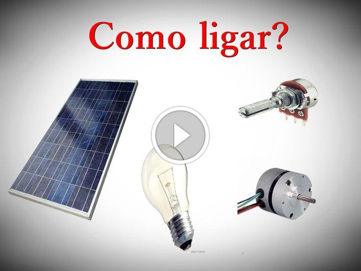 Painel Solar, como ligar um mini motor                                           Uma observação: No vídeo mencionei que a tensão de saída era 12V, e no multímetro ele estava dando quase 6V, bom isso acontece porque a radiação que estava atingindo o painel solar num era o suficiente para chegar a 12V. source                       ... construindo painel fotovoltaico, construindo painel solar, construindo painel solar caseiro dicas células fotovoltaicas, construindo