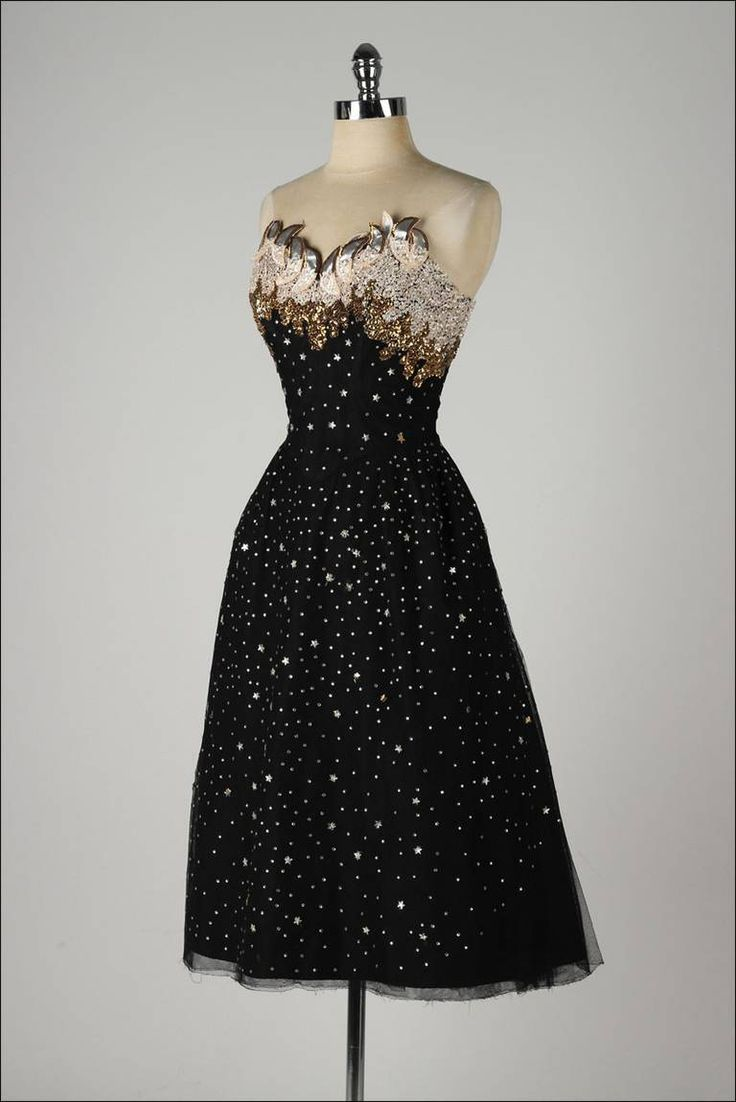 Vintage 1950's Rudolf Stars Rhinestones Cocktail Dress image 5