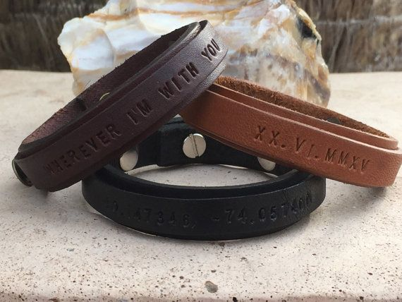 FREESHIPPING-Mens Bracelet,Mens Leather Bracelet,Men Engraved Bracelet,Engraved Leather Bracelet,Engraved Bracelets,Bracelets for Men