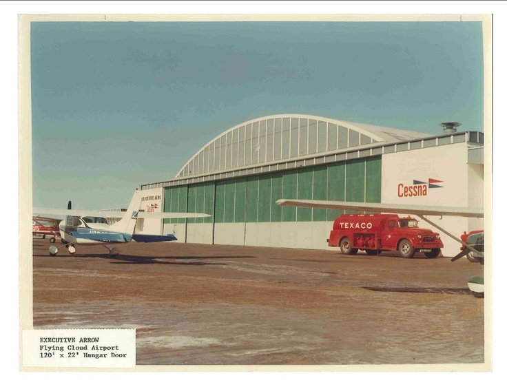 From the Door Engineering archives! This photo is of our bottom rolling hangar doors that we did back in 1964!