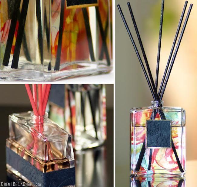 Cómo hacer un difusor para perfumes del hogar reciclando | Aprender manualidades es facilisimo.com