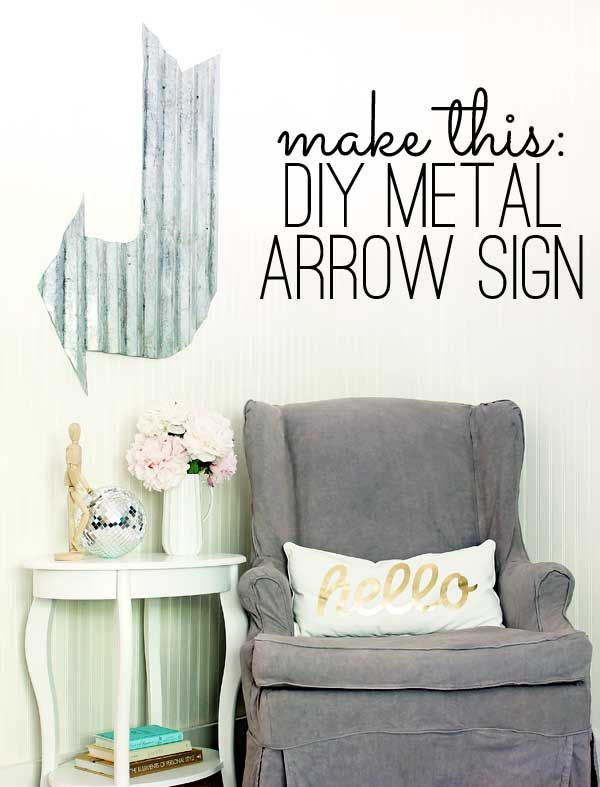 easy DIY metal arrow sign tutorial