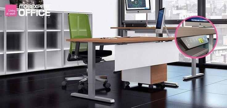 Reglează înălțimea biroului tău așa cum îți este comod. #confortlabirou #livingatwork
