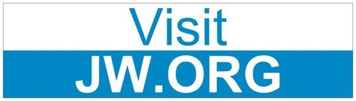 New Custom Visit JW.org BUMPER STICKER Ministry Jehovah's Witnesses Gift Blue