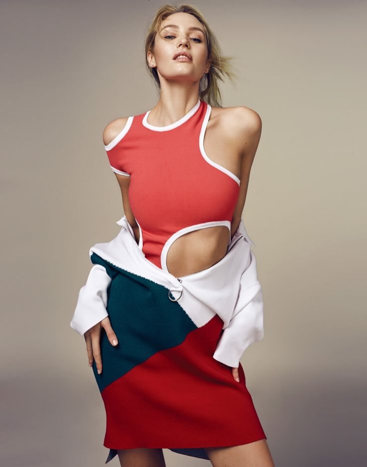 Candice Swanepoel models sporty inspired fashions for the editorial