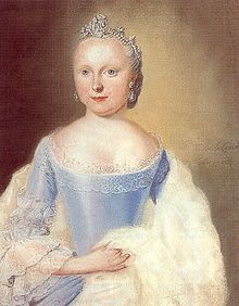 Carolina of Orange-Nassau (1743 - 1787). Daughter of William IV and Anne of Great Britain. She married Charles Christian, Prince of Nassau-Weilburg and had fifteen children.