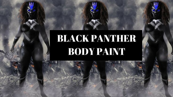 BLACK PANTHER ( BODY PAINT COSPLAY)