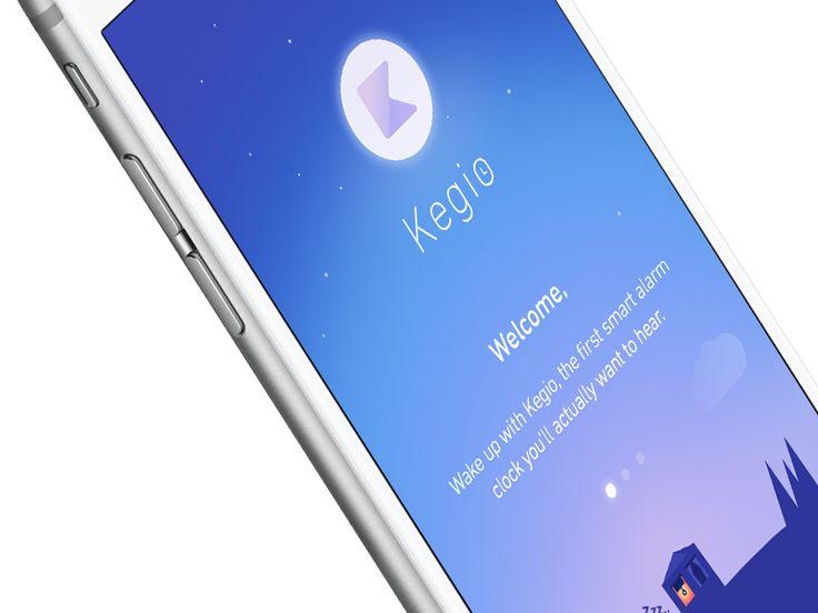 Launch Screen - Alarm App (WIP)  by Guillaume Marc https://dribbble.com/shots/2611535-Launch-Screen-Alarm-App-WIP #zeeenapp