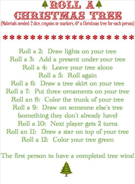 BLISSFUL ROOTS: Roll a Christmas Tree (Game )A fun thing to do for a family Christmas!!!