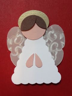 Punch art Angel - Use circle, heart and tag punches.