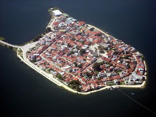 The island city of Flores, Guatemala