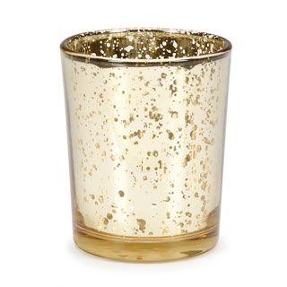 Wedding Votives: Gold Mercury Glass Votive  $1.17 on sale