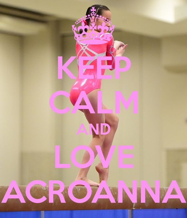 KEEP CALM AND LOVE ACROANNA