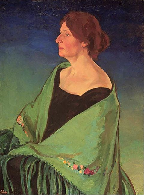 Frederick Varley (England 1881-1969 Canada), Portrait of Alice Massey, 1925. Alice Parkin Massey (Canada 1880–1950) was a philanthropist and the wife of Vincent Massey, who became Governor General of Canada shortly after her death. Collection National Gallery of Canada.