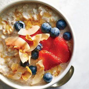 Overnight Oats w/Kefir, Berries, and Toasted Coconut  HINT: The active cultures in kefir are sensitive to heat; resist the urge to microwave the oats, keeping it chilled for maximum benefits.