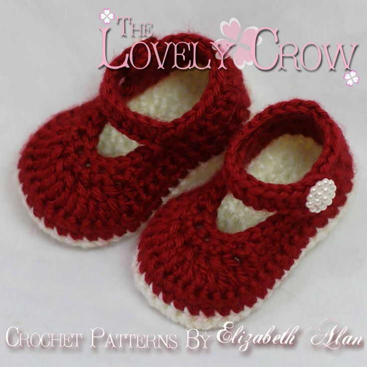 Free Crochet Patterns To Print | TheLovelyCrow: Crochet baby booties pattern for Christmas!!