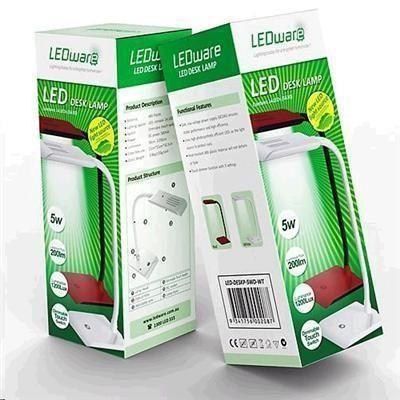 PB Tech - BULLED1035 : LEDware LA-D108 Dimmable Pedestal LED Desk Reading Lamp 240V 5W 200Lm CW Touch Switch Flexible Arm White SAA
