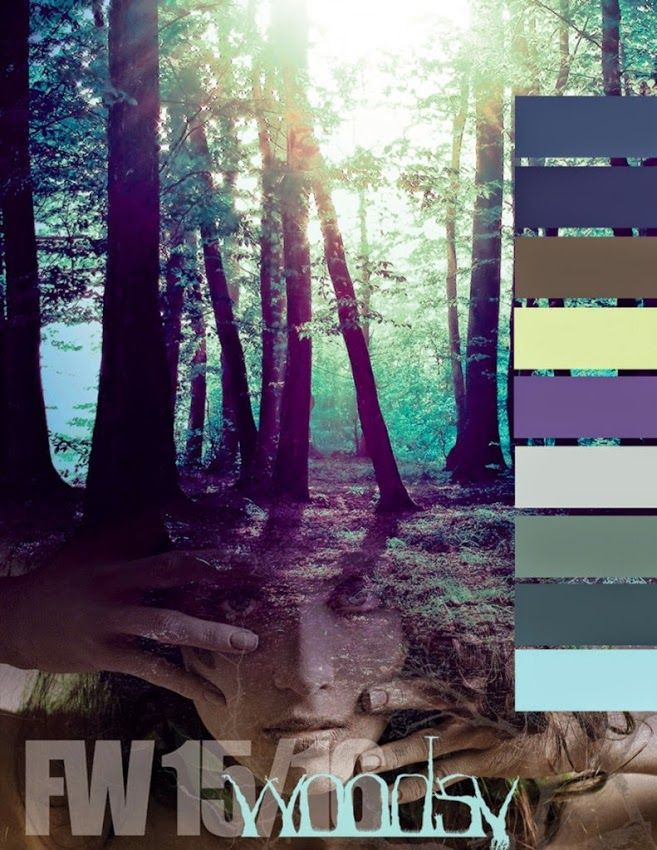 FASHION VIGNETTE: TRENDS // COLORWORLD (CSI + DYSTAR) - FALL/WINTER 2015-16 COLOR INSPIRATIONS - JEWELED AND WOODSY