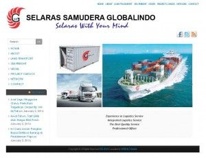 Web design Surabaya RIRISACI Studio. Company Profile Website | PT. SELARAS SAMUDERA GLOBALINDO