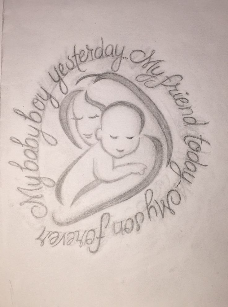 I found this symbol that represents mother & son, and I found the quote (I changed a couple of words) and designed this as a tattoo for me... I really want my son to see it though because it's dedicated to him, so I'm going to add a few things and send him the original as a card.