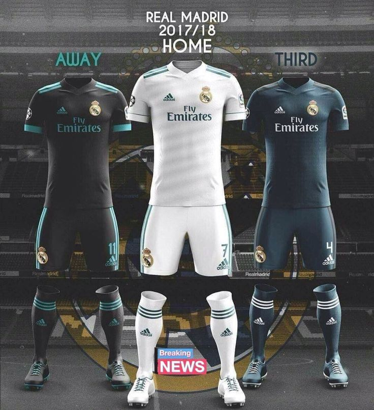 UNIFORMES DEL REAL MADRID
