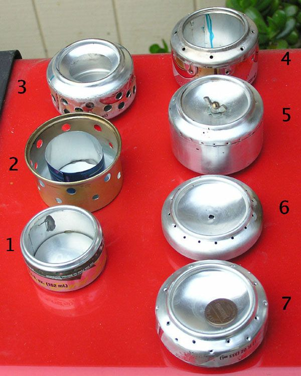 Backpacking Alcohol Stoves, just did one like these-- I'll have to make a pin