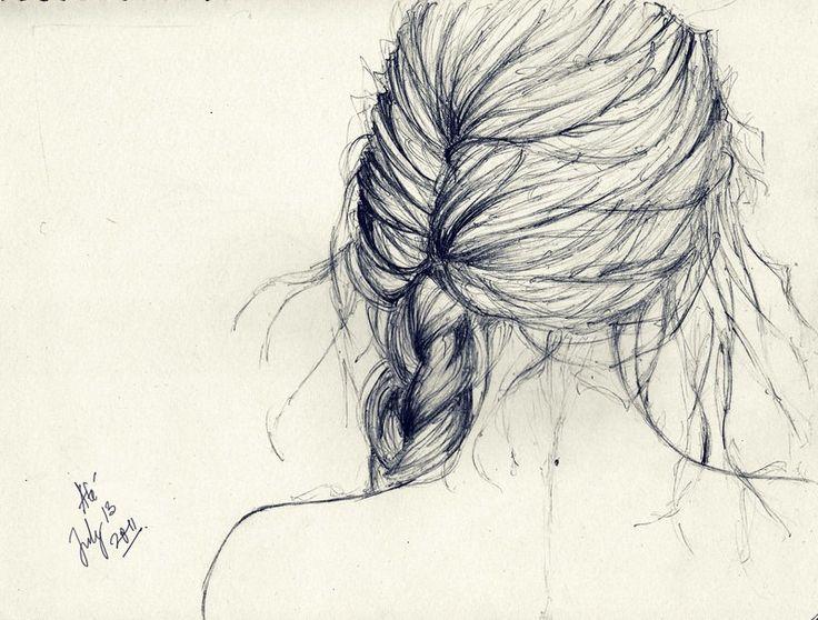 Hair Braid Sketch   Art   Pinterest   Braids Sketches And Hair