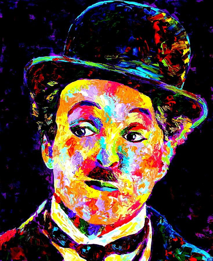 Charlie Chaplin Painting - by Artist~Mike O'Brien