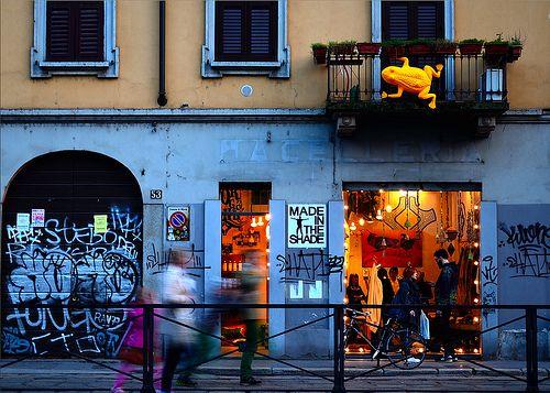 #Shop window in #Milan #Italy #navigli