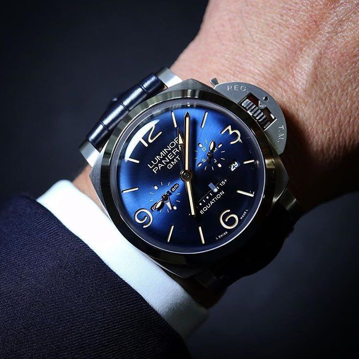 """8,935 Likes, 58 Comments - Panerai Central (@paneraicentral) on Instagram: """"Damn that dial is sexy. The #Panerai #PAM670 Luminor Marina Equation of Time GMT. Limited Edition…"""""""