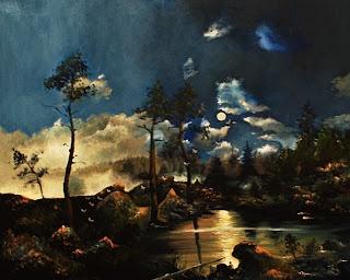 Maalasin maailmani: Pastissi teoksesta Metsälampi kuutamossa (Hjalmar Munsterhjelm)