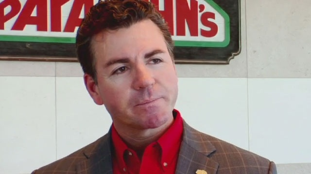 """CEO of Papa John's says employees' hours will likely be cut due to ObamaCare - Applebees is making same threat. I thought the argument for their tax rate being different is because they employ so many people, they are """"the job makers and now they do this?  BOYCOTT THEM ALL WHO THREATEN THIS.  Papa John has a limousine turntable in front of his mansion and he has the nerve to fire people instead of providing basic health care."""