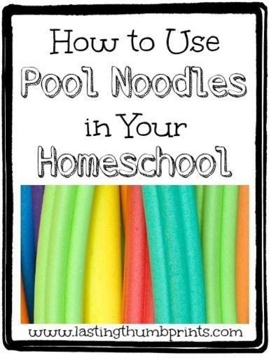 How to Use Pool Noodle Activities in Your Homeschool - learning games, diy manipulative idea, art, and more!